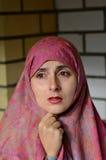 Ledsen arabisk kvinna Royaltyfria Foton