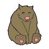 ledsen björn för tecknad film Arkivbilder