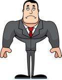 Ledsen Businessperson för tecknad film stock illustrationer