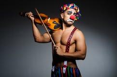 Ledsen clown royaltyfri foto