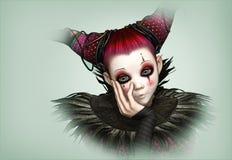 Ledsen clown, 3d CG Royaltyfri Bild