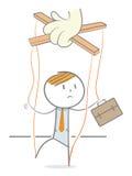 Ledsen docka royaltyfri illustrationer