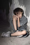 Ledsen ensam pys Royaltyfri Foto