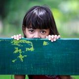 Ledsen liten flicka Royaltyfri Fotografi