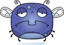 Ledsen liten fluga stock illustrationer