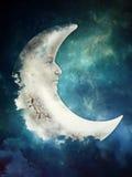 Ledsen måne Arkivfoto