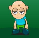 Ledsen pojkeillustration Fotografering för Bildbyråer