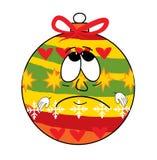 Ledsen tecknad film för leksak för julträd Arkivbild