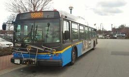 Ledsen transportbuss Arkivbilder