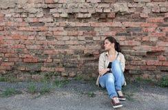 Ledsen ung flicka Fotografering för Bildbyråer