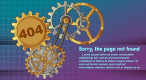 Ledset fel 404, sida att inte grunda royaltyfri illustrationer