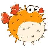 Ledsna Blowfish Arkivfoton