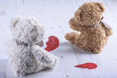 Ledsna nallebjörnar Arkivfoton