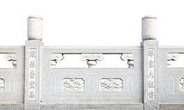 Ledstång för dekorativ sten i kinesisk stil Royaltyfri Fotografi