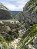 Ledtråd de Taulanne, kanjon i Frankrike Royaltyfria Bilder