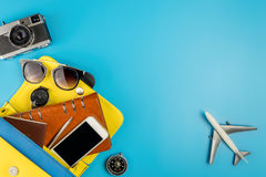 Ledy hand bag with travel accessories Royalty Free Stock Image