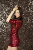 Ledy in red dress Stock Image