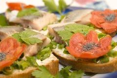śledziowa kanapka Zdjęcie Stock