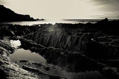 Lee Bay solnedgång Royaltyfria Foton