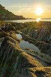 Lee Bay solnedgång Royaltyfria Bilder