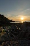 Lee Bay solnedgång Arkivbilder