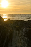 Lee Bay solnedgång Royaltyfri Bild