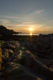 Lee Bay solnedgång Arkivfoton