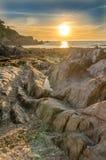 Lee Bay solnedgång Royaltyfri Fotografi