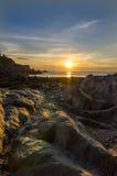 Lee Bay solnedgång Arkivbild