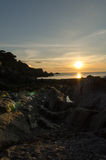 Lee Bay-Sonnenuntergang Stockbilder