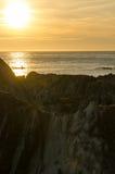Lee Bay-Sonnenuntergang Lizenzfreies Stockbild