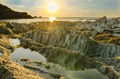 Lee Bay sunset Royalty Free Stock Image