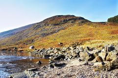 Lee do Loch, montanhas, scotland Fotografia de Stock Royalty Free