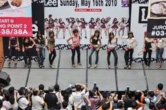 Lee FHM modèle 2010 (Singapour) Photos stock