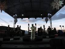 Lee Fields & The Expressions play on stage during concert with m Stock Photos