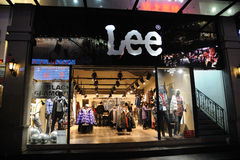 Lee Jeans shop Stock Image