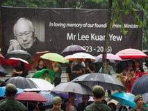 Lee Kuan Yew kondukt żałobny Zdjęcie Stock