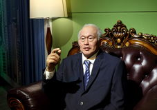 Lee Kuan Yew, Singapore. Wax statue of Lee Kuan Yew. Wax figure in Waxworks Museum stock photo