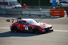 Lee Mowle Racing Mercedes AMG in der Aktion Stockfotografie