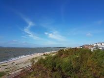Lee op solent strand Stock Afbeeldingen
