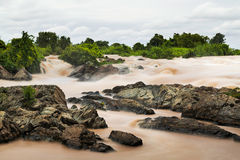 Lee Pee waterfall in Laos Royalty Free Stock Images