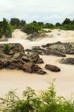 Lee Pee waterfall in Laos Stock Photos