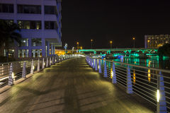 Lee Roy Selmon Expressway and Riverwalk Royalty Free Stock Images