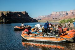 Grand Canyon Rafting at Lee`s Ferry Royalty Free Stock Photography