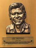 Lee Trevino. Bronze plaques dedicated to Lee Trevino. Trevino is enshrined in the World Golf Hall of Fame in St. Augustine, Florida royalty free stock image