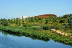 Lee Valley Velodrome Park Stratford, Londres imagem de stock