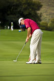 Lee Westwood. Putting out Stock Image