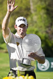 Lee Westwood. With his trophy for the Nedbank Golf Challenge, 2010 Stock Photography