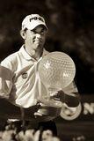 Lee Westwood. With his trophy for the Nedbank Golf Challenge, 2010 Stock Image