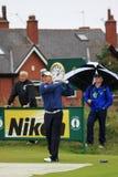 Lee Westwood sur le 9ème té, golf ouvert 2012 Image stock